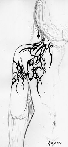 Elven Tribal - Tattoo Study 6 by Elbie3rd.deviantart.com on @DeviantArt