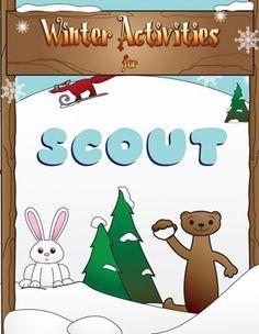 """Winter Activities Coloring Book. Width = 8.5"""", Height = 11"""""""