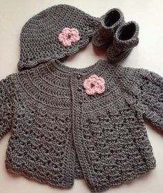 Hey, I found this really awesome Etsy listing at https://www.etsy.com/listing/201006608/crochet-baby-sweater-hat-booties-set