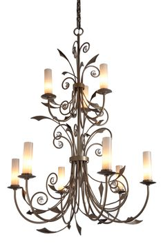 Buy Monceau Chandelier by Hammerton - Made-to-Order designer Chandeliers from Dering Hall's collection of Traditional Transitional Organic Chandeliers.