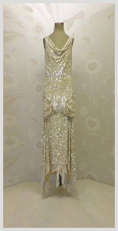 Vintage Art Deco gown - used in Upstairs Downstairs
