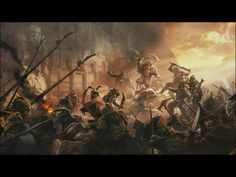 Battle of Dale, War of the Ring. King dain standing over THE body of king brand before THE Gates of Erebor until THE Darcknes feld