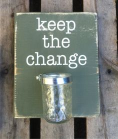 Laundry Sign  Keep the Change  wooden signs by ExpressionsWallArt, $25.00