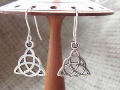 Celtic Triquetra Silver Earrings