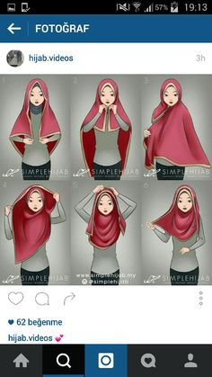 Square hijab tutorial Omg yeayyy found the tutorial. I've been trying many ways to wear square hijab zz Square Hijab Tutorial, Simple Hijab Tutorial, Hijab Style Tutorial, Turban Hijab, Hijab Dress, Hijab Outfit, Islamic Fashion, Muslim Fashion, Muslim Girls