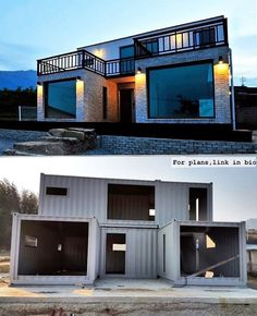 Luxury Container House Located South Korea - Living in a Container This house looks almost like a traditional brick house. This house has a different exterior surface than the container frame. Small House Design, Modern House Design, Shipping Container Home Designs, Prefab Shipping Container Homes, Shipping Container Homes Australia, Tiny House Shipping Container, Converted Shipping Containers, Shipping Container Buildings, Building A Container Home