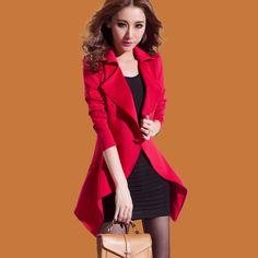 Red autumn and winter women slim blazer long-sleeve dress twinset casual suit jacket thickening zara2014 women blazers blaser $29.18