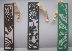 Original freehand papercut bookmarks...of dragons! I love dragons, these were very fun to do. Unfortunately I went a bit over the top with detail and they ended up a bit flimsy - hence all of them ...