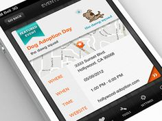 Dribbble - iPhone App - Featured Event Detail by Anke Mackenthun