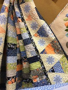 A pointy border using Franny and Jane's Bloomsbury fabrics