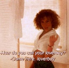 oh loverboy. i simply say baaaby ohhhh baaaaby - Dirty Dancing. 80s Movies, Iconic Movies, Great Movies, Movie Tv, 1980s Films, Movie Memes, Dirty Dancing Quotes, Dance Quotes, Jennifer Grey