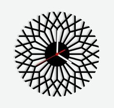 This geometric wall clock looks a bit like branches spreading out from the trunk of a tree.