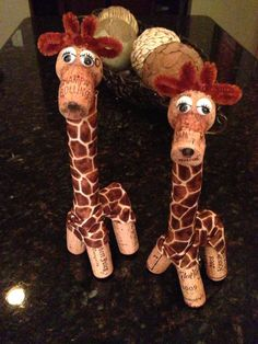 Twins!! Visit my shop for more wild cork creations. :). Etsy.com/shop/DiVineWineCorks
