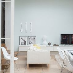 Modern neutral living room | Living room decorating ideas | Livingetc | Housetohome.co.uk