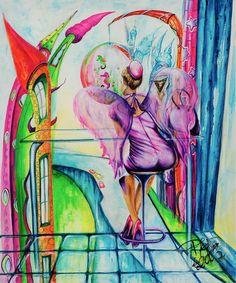 El ángel Gloria | Angel Gloria | Acrílico sobre lienzo | Acrylic on canvas by Pili Tejedo 55 x 65 cm
