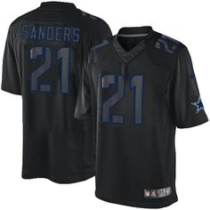518b3b6c0 Nike Cowboys  21 Deion Sanders Black Men s Embroidered NFL Impact Limited  Jersey And  nfl