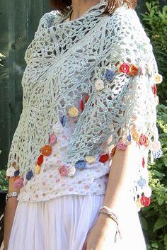 Gypsy Shawl By Sandra Paul - Purchased Crochet Pattern - (ravelry) ✿⊱╮Teresa Restegui http://www.pinterest.com/teretegui/✿⊱╮