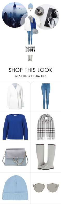 """// 1273. So Cozy: Winter Boots."" by lilymcenvy ❤ liked on Polyvore featuring Delpozo, George, Hobbs, Burberry, Chloé, Baffin, Topshop, Christian Dior, Lime Crime and winterboots"