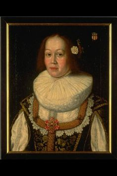 Painting. Damenporträt well of Maria of May born Manuel (born 1615) of Bern. Half-length portrait with coat of arms of Manuel family. White carnation in her hair, Damastkleid with lace trimming. Painters anonymously. Oil on canvas;; Frame: wood. 1638 (dated). Dimensions: Height 58.5 cm, width 47.5 cm. (LM 10293) Lit .: 'L. Wüthrich / M. Ruoss, Catalogue of Paintings, Swiss National Museum, Zurich 1996 ', number 687