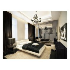 Modern Condo Design filled with Popular Furniture MODERN INTERIORS ❤ liked on Polyvore