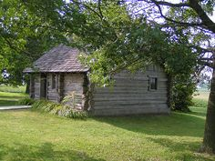 Laura Ingalls Wilder birthplace: reconstruction of the Little House in the Big Woods on the actual land owned by Charles and Caroline Ingalls at the time of Laura's birth. Located about 7 mi from Pepin, Wi.