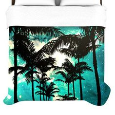 KESS InHouse Palm Trees and Stars Duvet