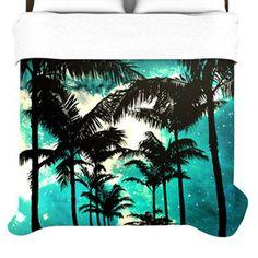 KESS InHouse Palm Trees and Stars Duvet