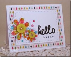 baby wipe stamping, MIM, frilly flowers: PTI, maureenplut