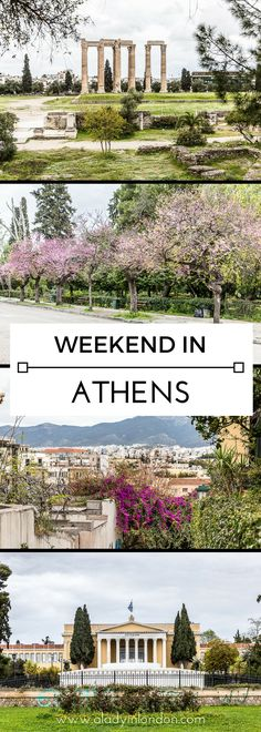 How to spend a perfect weekend in Athens, Greece. From ancient ruins to beautiful streets, there's a lot to see and do here. #athens #greece