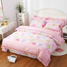 Bed Cover Style 100% Cotton 3/4 Pieces Bedding Sets Twin/Full/Queen/King Duvet Cover Environmental Protection Free Fast Shipping
