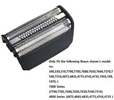 Braun Series 3 Foil & Cutter Replacement Head, Compatible with Previous Generation SmartControl, TriControl, shavers, and Series 3 Braun Shaver, Skin Roller, Amazon Advertising, Image Link, Technology, Note, Eyes, Accessories, Tech