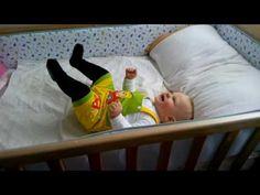 Вика играет и прыгает в кроватке. Детский канал Viki Land #18