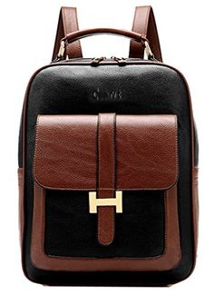 b0da6eaa73 Amazon.com  Coofit Fashion Girl s Leather Backpack College School Bag  Tablet Book Bag Pur...  Computers   Accessories
