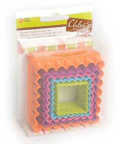 Square Five-Piece Cookie Cutter Set