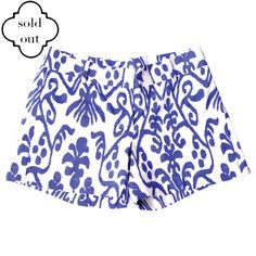 Pippa Shorts in Blue Ikat