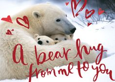Save polar bears and their cubs by giving this NRDC Green Gift https://www.nrdcgreengifts.org/a-bear-hug-from-me-to-you