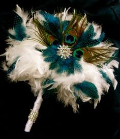 Peacock Feather Bouquet