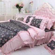 Girls Princess Bedding Sets - Bedding Set - Ideas of Bedding Set - Girls Princess Bedding Sets Romantic Bedroom Design, Feminine Bedroom, Light Pink Bedrooms, Shabby Chic Bedrooms, Girls Bedding Sets, Queen Comforter Sets, Bed Sets, Ruffle Comforter, Duvet