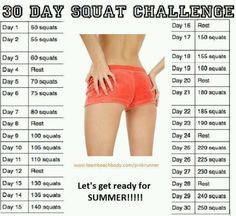 Join me today for this 30 Day Squat Challenge!