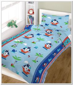 Children's 100% Cotton Pirate Duvet Cover - Available now on Becky & Lolo
