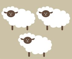 Sheep Wall Decals new version by greywolfgraphics on Etsy, $18.00