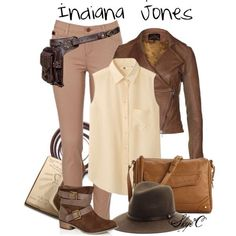 Indiana Jones casual cosplay. I would love to dress up as Indiana Jones. I think it's a cute play with names.