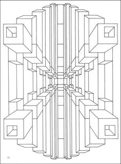 Optical Illusion Coloring Pages Printable - Enjoy Coloring