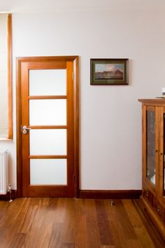Contemporary internal door.  Beautiful natural finish with minimalist design