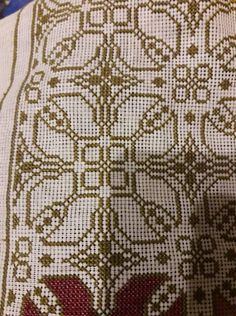 Cross Stitch Borders, Cross Stitch Embroidery, Projects To Try, 1, Couture, Beads, Rugs, Crochet, Crafts