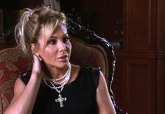Adrienne Maloof inspired pearl cross necklace