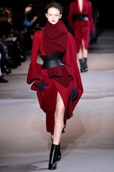 AW12 Coats #Trends ... oversized, belted, long scraft, luxurious // Haider Ackermann #PFW