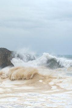Heavy rolling sea