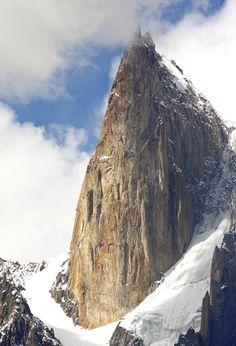 Ladyfinger Peak, is a distinctive rock spire in the Batura Muztagh, the westernmost subrange of the Karakoram range in Pakistan.