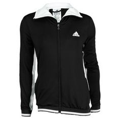 The adidas Women's Tennis Sequencials Warm-Up Jacket is made from Climalite  fabric for superior